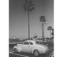 Vehicles: Palm Tree Classic Car Photographic Print