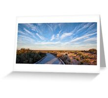 Walk Back in Time - Mungo NP, NSW Greeting Card