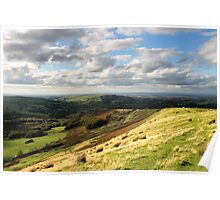 Coombes Edge towards Manchester, Sunny Day Poster