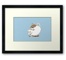 Vintage Mrs Potts & Chip - Beauty and the Beast Framed Print