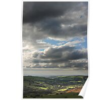 Big sky over Etherow Country Park Poster