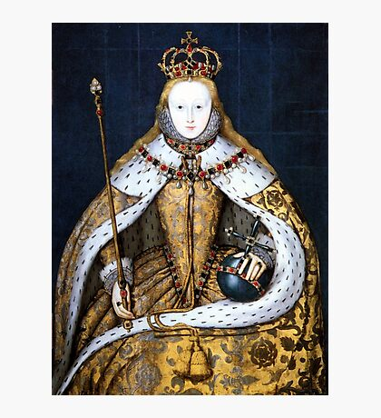 Queen Elizabeth I of England in Her Coronation Robe Photographic Print