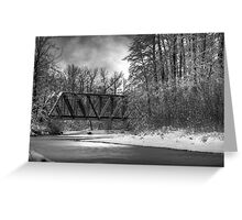 Railroad Bridge over the Wallace River Greeting Card