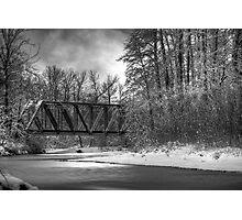 Railroad Bridge over the Wallace River Photographic Print