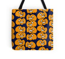Pattern of pumpkins for Halloween Tote Bag