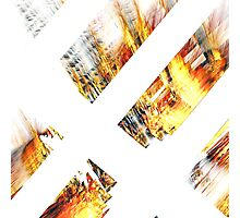 Burning Logs Photographic Print