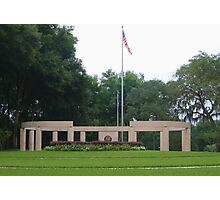 Colonnade at the Florida National Cemetery in Bushnell. Photographic Print