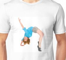 flexible Female acrobat bends over backwards  Unisex T-Shirt