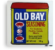 Old Bay Can Canvas Print