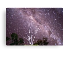 Some trails and the Milky Way Canvas Print
