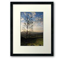 Sunset over Old Glossop Framed Print