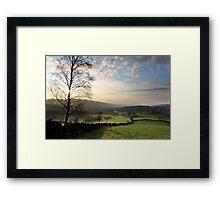 Sunset over Old Glossop (Landscape) Framed Print