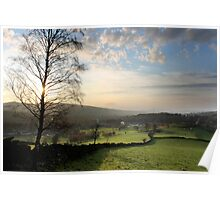 Sunset over Old Glossop (Landscape) Poster