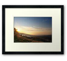 Misty Sunset, Glossop Framed Print