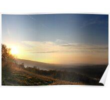 Misty Sunset, Glossop Poster