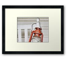 Lantern and Chair Framed Print