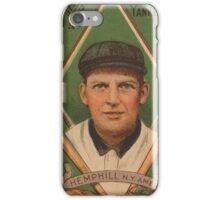 Benjamin K Edwards Collection Charles Hemphill New York Yankees baseball card portrait iPhone Case/Skin