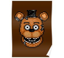 Five Nights at Freddy's 2 - Pixel art - Withered Old Freddy Poster