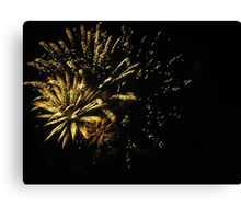 Fireworks at Disneyland. Canvas Print