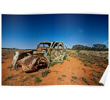 Outback Wreck - Arumpo, NSW Poster
