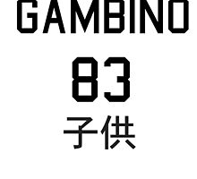 Gambino Jersey 83 Shirt by sebbyvincent