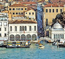 Rio della Zecca Bridge, Venice, Italy by johnpbroderick