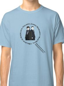 Sherlock & Moriarty Under the Microscope Classic T-Shirt