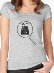 Sherlock & Moriarty Under the Microscope Women's Fitted Scoop T-Shirt