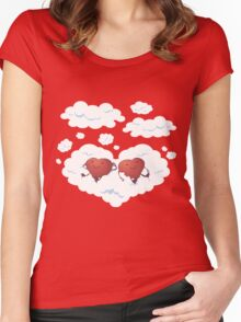 DREAMY HEARTS Women's Fitted Scoop T-Shirt