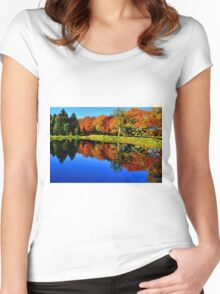 Autumn Foliage at St. James Women's Fitted Scoop T-Shirt