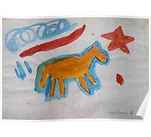 Magic Gold Horse Poster