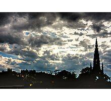 Edinburgh Silhouette Photographic Print