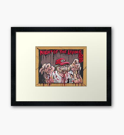 Night of the living Red Framed Print