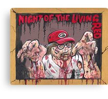Night of the living Red Canvas Print