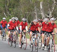 'WHERE'S TONY?' Bupa Challenge riders,Mt. Pleasant, Adelaide Hills. by Rita Blom