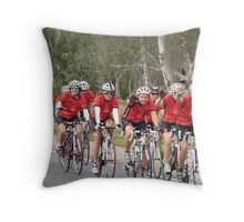'WHERE'S TONY?' Bupa Challenge riders,Mt. Pleasant, Adelaide Hills. Throw Pillow