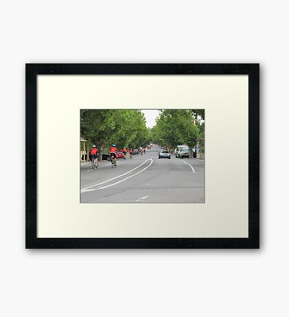 Bupa Challenge Riders Mount Pleasant, Adelaide Hills. Framed Print