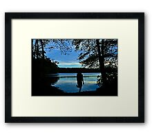 This Evening is like a Dream.... Framed Print