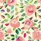 Pastel Roses in Blush Pink and Cream by micklyn