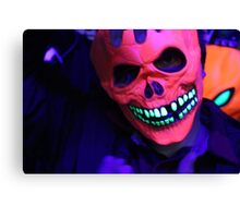 Neon Glowing Mask Notebook Canvas Print
