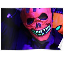 Neon Glowing Mask Notebook Poster