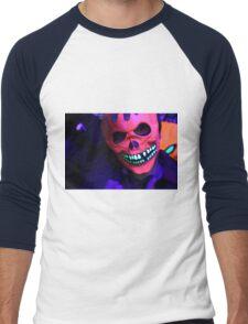 Neon Glowing Mask Notebook Men's Baseball ¾ T-Shirt