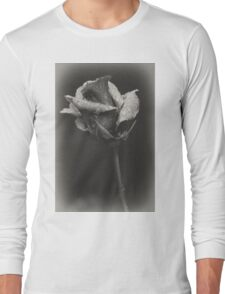 Gray rose Long Sleeve T-Shirt