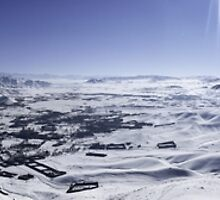 Panorama View of Afghanistan from Snowy Mountain by Fred Seghetti