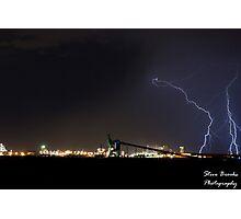 Lightning Over Kwinana Photographic Print