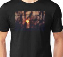 Fenced sunset Unisex T-Shirt