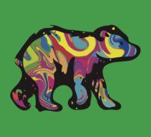 Colorful Bear Cub One Piece - Short Sleeve