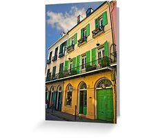 French Quarter Lady Greeting Card