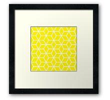 Yellow Interlocked hexagon lattice Framed Print