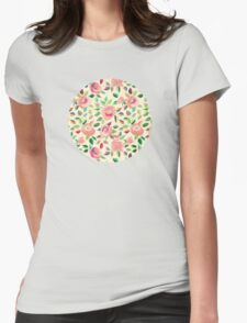 Pastel Roses in Blush Pink and Cream T-Shirt